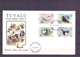 Tuvalu - Wild Birds - FDC - Funafuti 27/2/1985   (RM13902) - Vögel