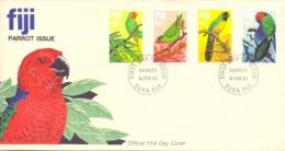 Fiji - FDC - Suva 14/2/83   (RM13913) - Papageien