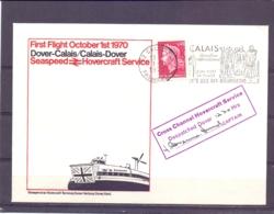 Rép. Française - Seaspeed Hovercraft Service - First Flight Dover - Calais - 1/10/1970  (RM13929) - Other (Sea)
