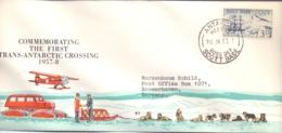 Scott Base - Commemorating 1st Trans Antarctic Crossing 1957-8 - HMS Erebus - 20/1/58   (RM13931) - Dépendance De Ross (Nouvelle Zélande)