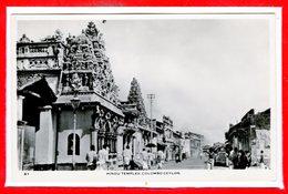 ASIE - CEYLON - Sri Lanka -- Hindu Temples Colombo - Sri Lanka (Ceylon)