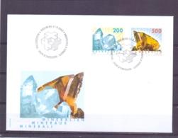 Helvetia - FDC  -  Bern 17/9/2002    (RM13956) - Minéraux