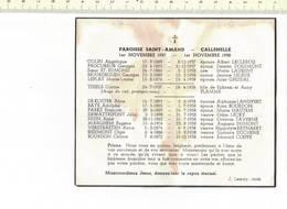 DP 7616 - PAROISSE SAINT AMAND  - 1957 - 1958 - Devotion Images