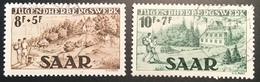 Sarre 1949 Auberges De Jeunesse Yv 250-51, Mi. 262-63 OBLIT DE COMPLAISANCE (Saar Saarland Saargebiet  Jugendherbergen - 1947-56 Occupation Alliée