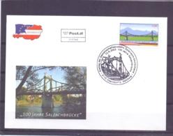 Rep. Österreich - Ersttag - 100 Jahre Salzachbrücke - Michel 2426  - Oberndorf 12/6/2003   (RM14053) - Emissions Communes