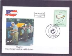 Rep. Österreich - Ersttag - 10 Jahre Verpackungsrecycling ARA System -  Michel 2407 - Wien 11/4/2003  (RM14062) - Protection De L'environnement & Climat