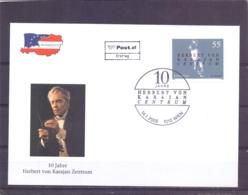 Rep. Österreich - Ersttag - 10 Jahre Herbert Von Karajan Zentrum - Michel 2507 - Wien 14/1/2005   (RM14081) - Muziek