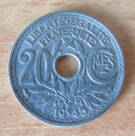 France - Monnaie 20 Centimes Lindauer 1945 - TTB / TTB+ - Peu Commune - Achat Immédiat - France