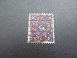 DR Nr. 207W, 1922, Gestempelt, BPP Geprüft BS - Used Stamps
