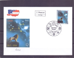 Rep. Österreich - Ersttag - Astro Post Leo - Michel 2539  - Wien 22/7/2005  (RM14110) - Astrologie