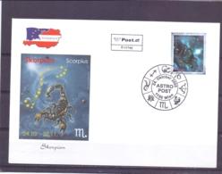 Rep. Österreich - Ersttag - Astro Post Scorpius - Michel 2551  - Wien 24/10/2005  (RM14113) - Astrologie