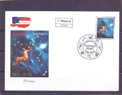 Rep. Österreich - Ersttag - Astro Post Sagittarius - Michel 2552  - Wien 24/10/2005  (RM14114) - Astrologie