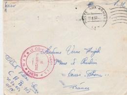 LAC FM POSTE AUX ARMEES 1960 COMMANDANT SP 86054 - C.A.R 103 POUR LA FRANCE - Marcophilie (Lettres)