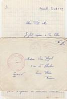 LAC FM POSTE AUX ARMEES 26/5/59 SP 88221 - TIRAILLEUR C.C.S POUR COURS RHONE - Marcophilie (Lettres)