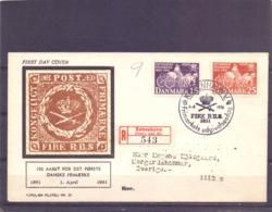 Danmark - FDC - 100 Aaret For Det Forste Danske Frimaerke - Kobenhavn 1/4/1951   (RM14341) - Post