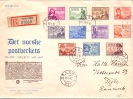 Norge - FDC - 300 Ärs Jubileum Det Norske Postverkets - Drammen 15/4/47    (RM14349) - Post