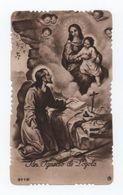 Rare VINTAGE 1947 HOLLY CARD ANGELS OUR LADY JESUS CHRIST SAN JUAN DE LOYOLA SPAIN - PORTUGAL LISBON - Religion & Esotericism
