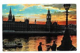 Inghilterra England Sunset On The River Thames Viaggiata 1966 Condizioni Come Da Scansione - River Thames