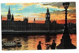 Inghilterra England Sunset On The River Thames Viaggiata 1965 Condizioni Come Da Scansione - River Thames