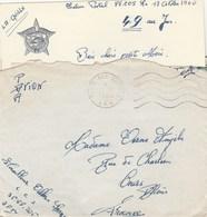 LAC FM TIRAILLEUR C.C.S SP 88205 DU 18/10/60 POUR COURS RHONE - Marcophilie (Lettres)