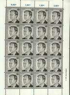Luxembourg Feuille De 20 Timbres à 0,10 Euro Grand-Duc Henri - Full Sheets