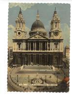 Inghilterra England London St. Paul's Cathedral West Front Viaggiata Condizioni Come Da Scansione - London