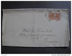 """2017 ITALIA Regno-1891-96- """"Effigie"""" C. 20 Coppia MODENA>BERGAMO (descrizione) - Marcophilia"""