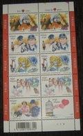 België - 2003 - Belgique 3150/55** Een Hart Voor - Un Cœur Pour. Volledig Vel / Feuille Complête. Pl 3 - Panes