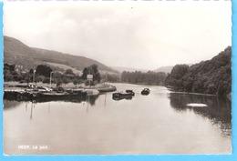 Heer-sur-Meuse (Hastière)-+/-1950-Le Port-Péniches (péniche)-Edit.Lutte, Genappe---> Mme Jacot, Magasin VEGE- Rare - Hastière