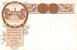 """1171 """"ROMA - CONGRESSO INTERNAZIONALE DI SCIENZE STORICHE - 11-IX-APRILE MCMIII"""" ANIMATA. CART NON SPED - Advertising"""