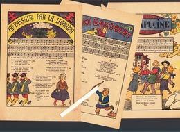 8 Images 1939 / Chansons Populaires  / Pub Dentifrice Dentol  Et La Tour Prends Garde XIXeme - Vieux Papiers