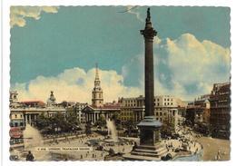 Inghilterra England London Trafalgar Square Viaggiata 1958 Condizioni Come Da Scansione - Trafalgar Square