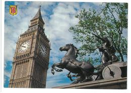 Inghilterra England London Big Ben And Boadicea Statue Non Viaggiata Condizioni Come Da Scansione - London