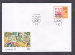 Estonia 1998 Estonian Post, 80th Anniversary FDC - Estonia
