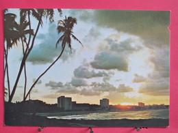 Visuel Très Peu Courant - Brésil - Fortaleza - Por Do Sol Na Volta Da Jurema - Scans Recto-verso - Fortaleza