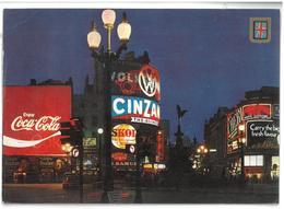 Inghilterra England London Piccadilly Circus And Statue Of Eros Viaggiata 1988 Condizioni Come Da Scansione - Piccadilly Circus