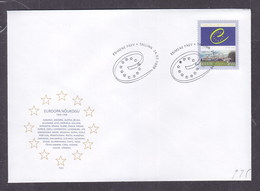 Estonia 1999 Council Of Europe, 50th Anniversary FDC - Estonia