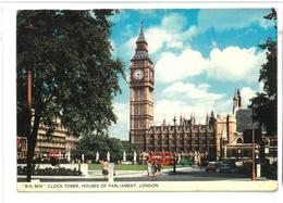 Inghilterra England London Big Ben Clock Tower,  Houses Of Parliament Viaggiata 1981 Condizioni Come Da Scansione - Houses Of Parliament