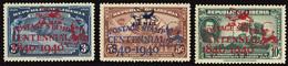 LIBERIA 1941 100th ANNIVERSARY FIRST POSTAGE STAMPS AIRMAIL (Mi C10-16) MNH ** - Liberia