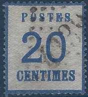 FRANCE Alsace Lorraine N°6 20c Obl GC 4139 De Verdun Sur Meuse Superbe & RR Signé Calves - Alsace-Lorraine