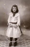 France Lille Jeu D'Enfants Cerceau Jouet Ancienne CDV Photo Salamon 1890 - Foto