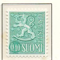 PIA - FINLANDIA - 1974 : Uso Corrente - Leone Rampante Nuova Moneta - (Yv 534B I) - Unused Stamps