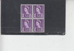 GRAN BRETAGNA  1967-70 - Unificato  515a (quartina) - Scozia - Regionali