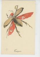 """GUERRE 1914-18 - Jolie Carte Fantaisie """"LES ALLIES """" - Homme Insecte SULTAN DE TURQUIE MEHMED V - Guerre 1914-18"""