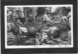 CPA Kenya Ethnic Afrique Noire Type Circulé Marché - Kenya