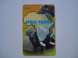 """Carte Prépayée Française """" AFRIK PHONE """" (utilisée Luxe). - Cellphone Cards (refills)"""