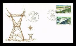 Pylône électrique Transport énergie Haute Tension Canal D'irrigation électricité Hydro électrique - Electricité