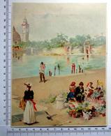 CHROMO    LITHOGRAPHIE ....GRAND FORMAT... H  18.5 Cm.....VENISE A LA BELLE EPOQUE  2 - Vieux Papiers