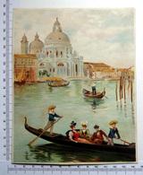 CHROMO    LITHOGRAPHIE ....GRAND FORMAT... H  18.5 Cm.....VENISE A LA BELLE EPOQUE  3 - Vieux Papiers