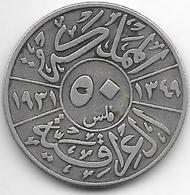 *irak 50 Fils 1931 Km 100    Fr+ - Iraq